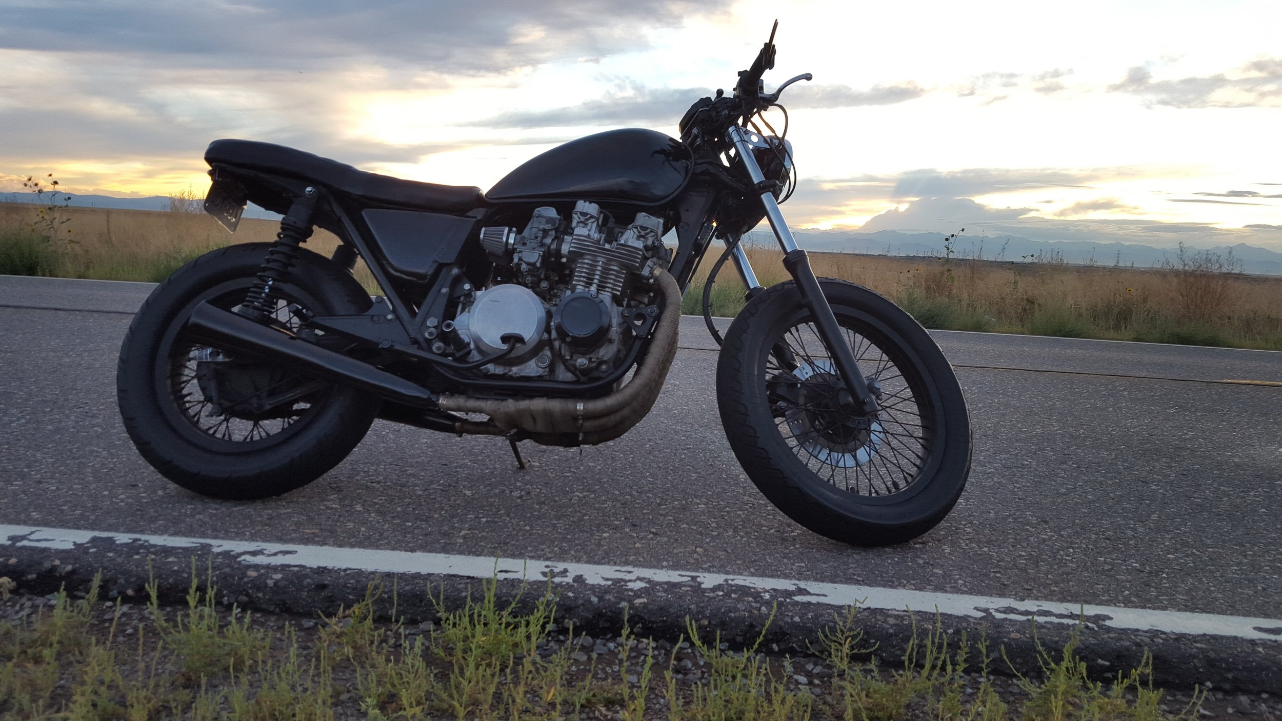 KZ650 brat lake motorcycle