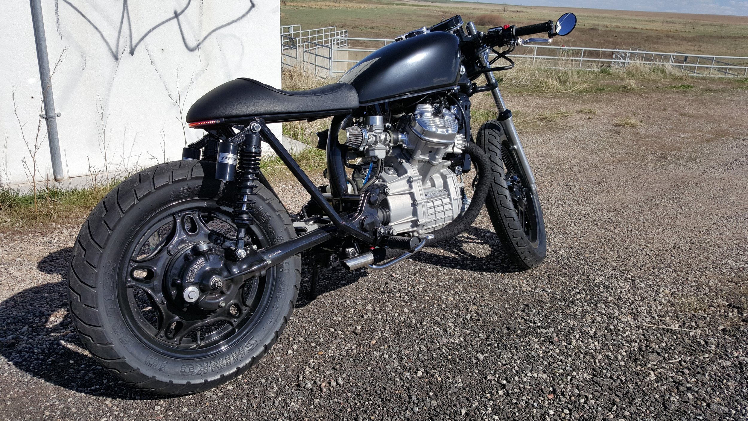 cx500 cafe racer lake motorcycle