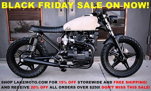 "Black Friday Sale! 15% off everything 20% off orders over $250 use code ""blackfriday"" #cx500 #blackfriday #cb750 #cb550 #caferacer #caferacerxxx #caferacerporn #caferacergram #lakemotorcycle #bratbike #cb450 #caferacerparts #caferacersofinstagram #bikeexif #pipeburn #instabike #croig #scramblerducati #triumphbonneville"