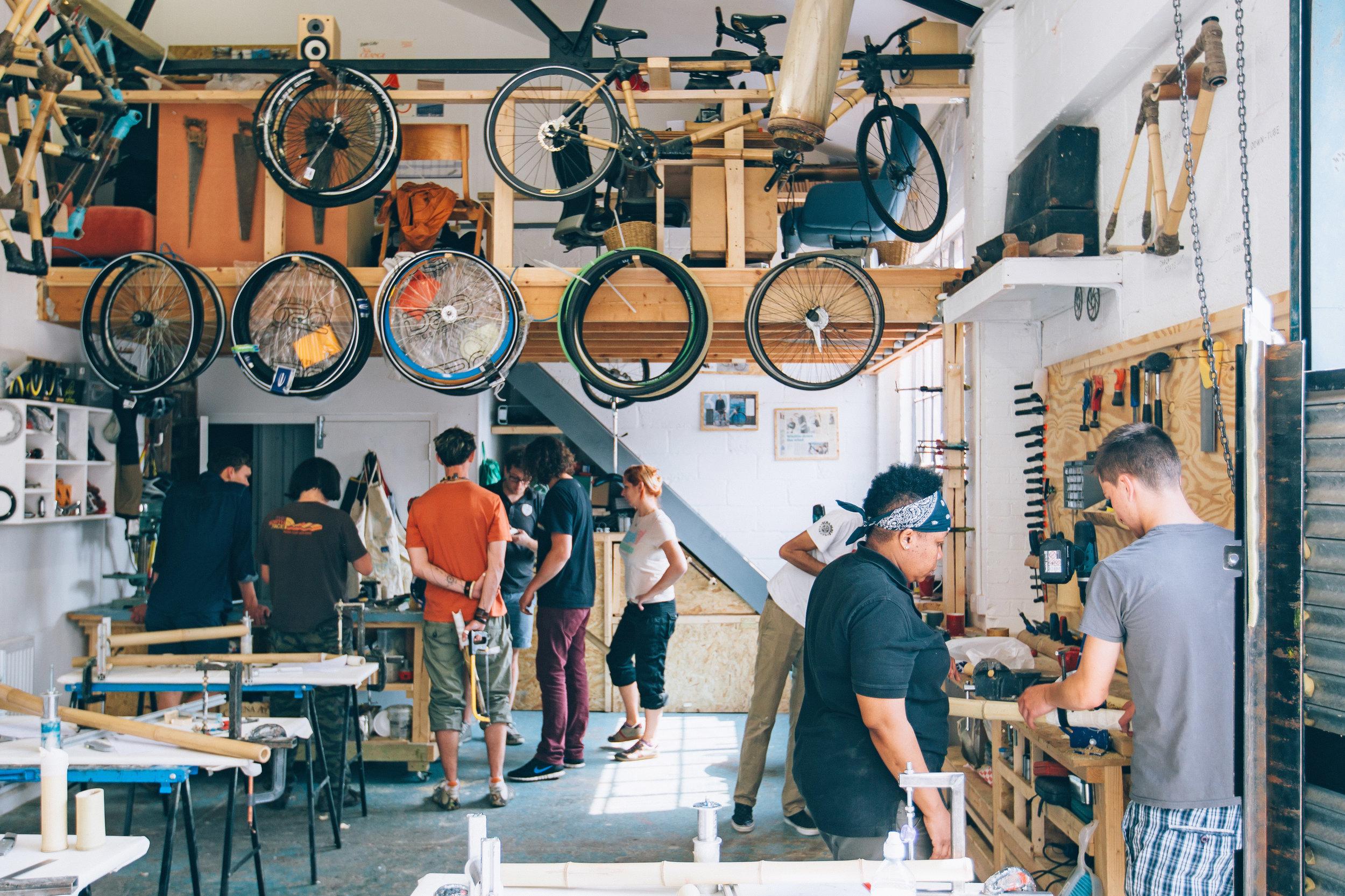 The workshop in Hackney Wick