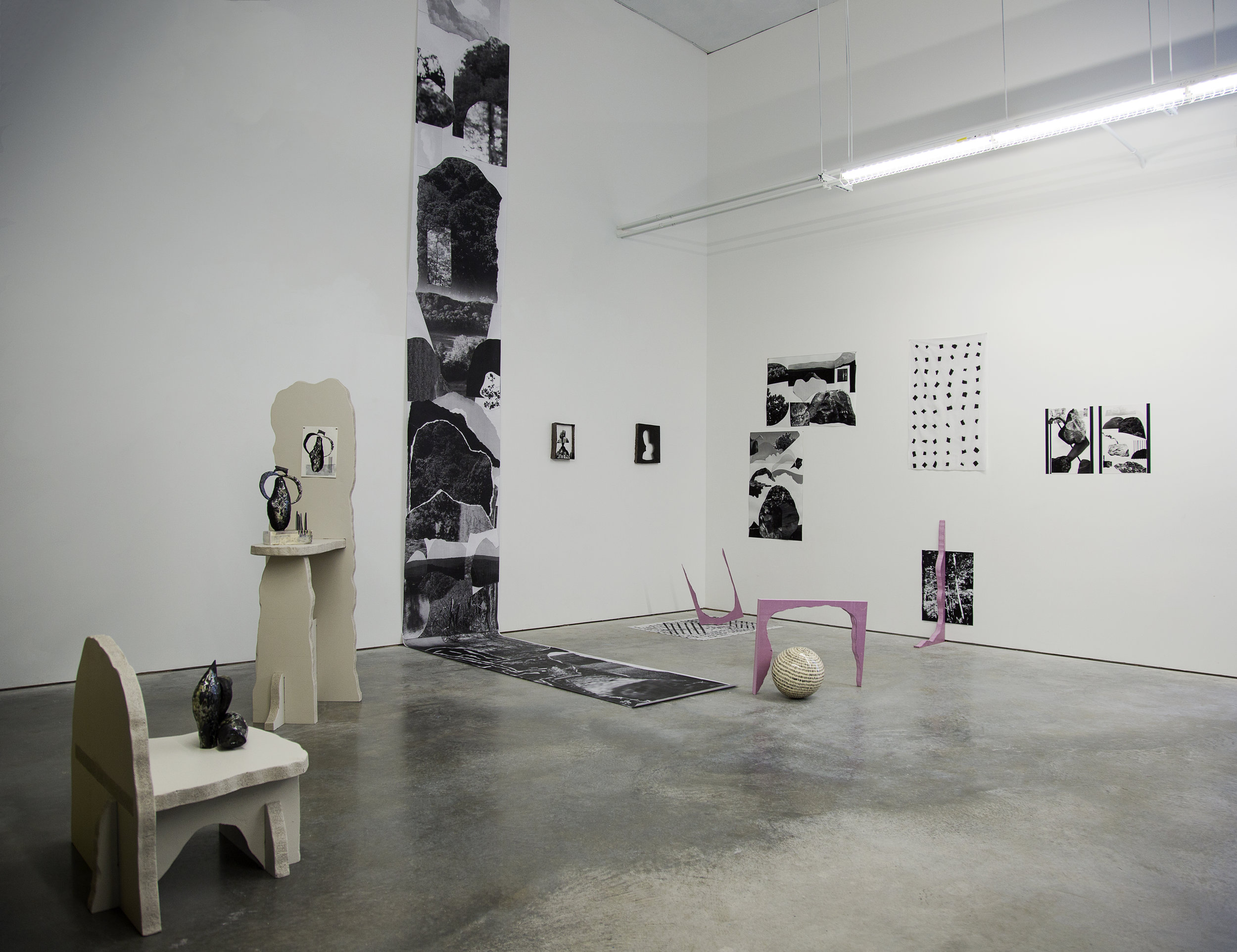 somewhere, between (installation view)