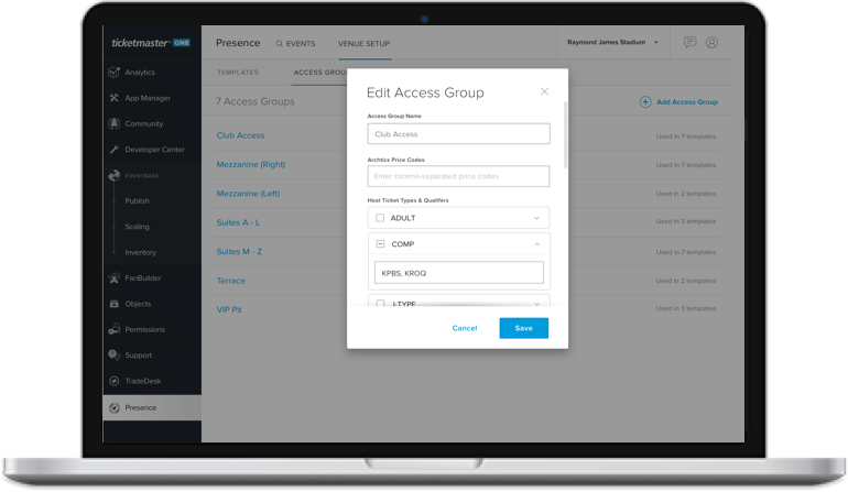 When testing a new feature called Access Groups, every client requested the feature to function in a way they can search across their ticket types and add them, instead of manually typing them in. We wouldn't have known to build the feature this way without research!