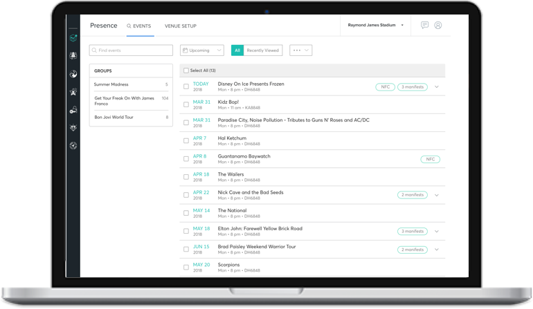 A re-imagined event list UI that cleans up a lot of the messiness of the original UI.