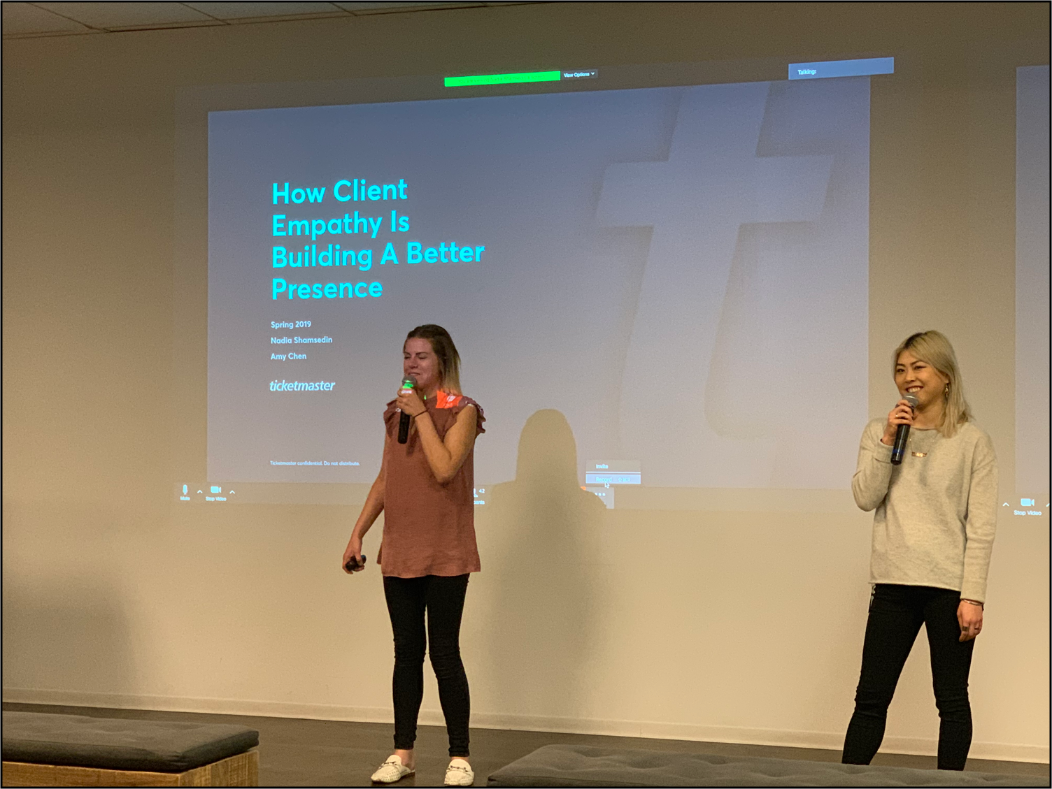 """A natural follow-up to the presentation in June 2018, we did another company-wide presentation in April 2019 entitled """"How Client Empathy is Building A Better Presence."""" Yes, I am wearing the same blouse as I did in the original presentation."""