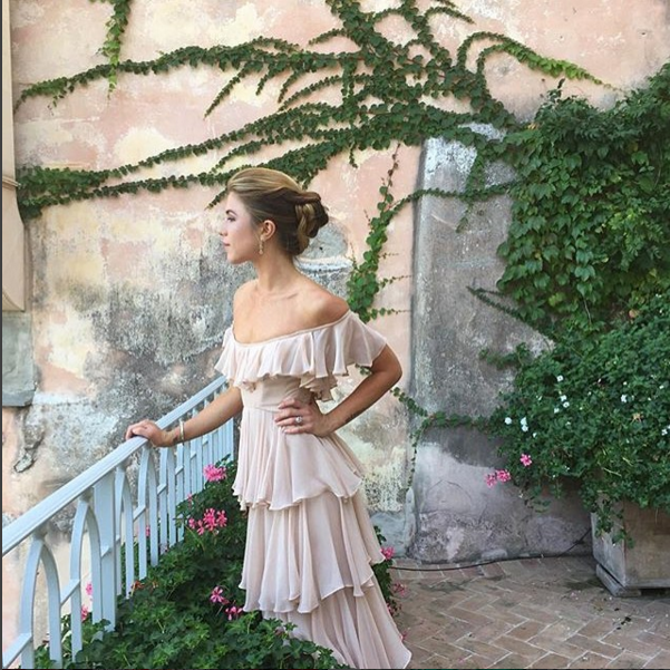 """Kendra   Photography by  Scarlet Mann . Kendra in SHAREEN Bridal (the """" Ambi """") as the Maid of Honor for her mother's wedding. Venue is  Ravello, Italy ."""