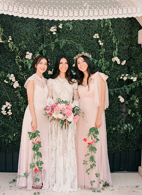 Ashley is wearing SHAREEN Bridal.  Event Design by  Moon Milk Events .  Photography by  Gia Canali .  Florals by Karena Mit.  Featured on  BRIDES.com .