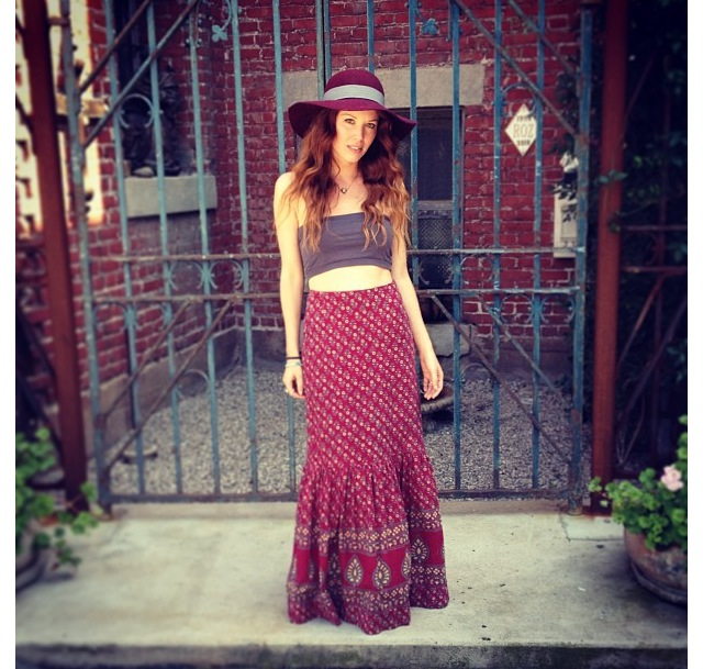 andrea-wearing-a-fitted-indian-skirt-from-shareen-downtown