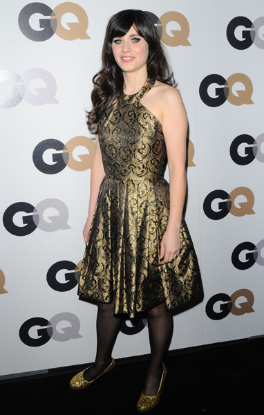 Zooey in Shareen at GQ's 2011 Men of the Year Party