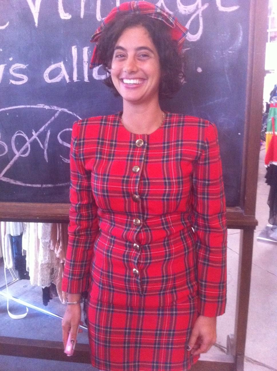 Jessie Kahnweiler in vintage at Shareen Downtown
