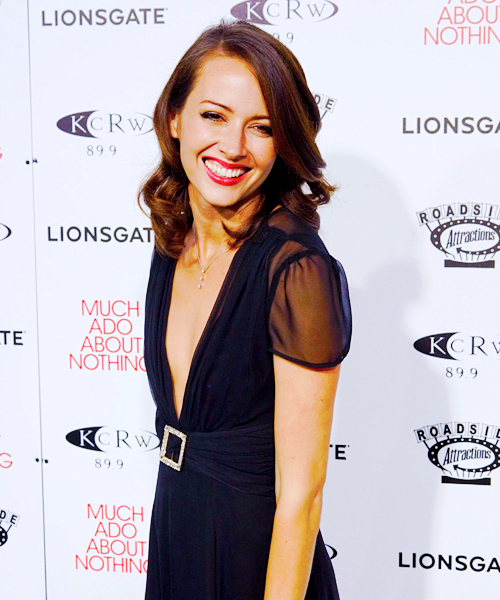 amy-acker-michael-black-shareen-much-ado-premiere