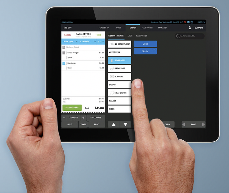 Run CirroTouch on Android Mobile devices to easily provide table-side ordering.