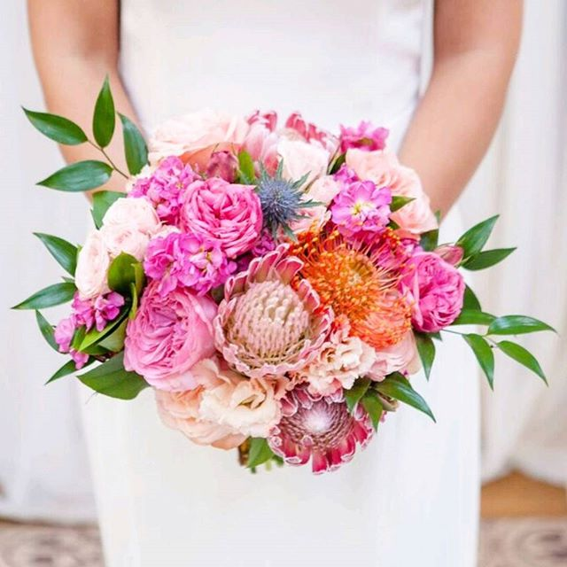 """Bridal Bouquet from the """"Modern"""" package. Part of the Spring 2017 Collection"""