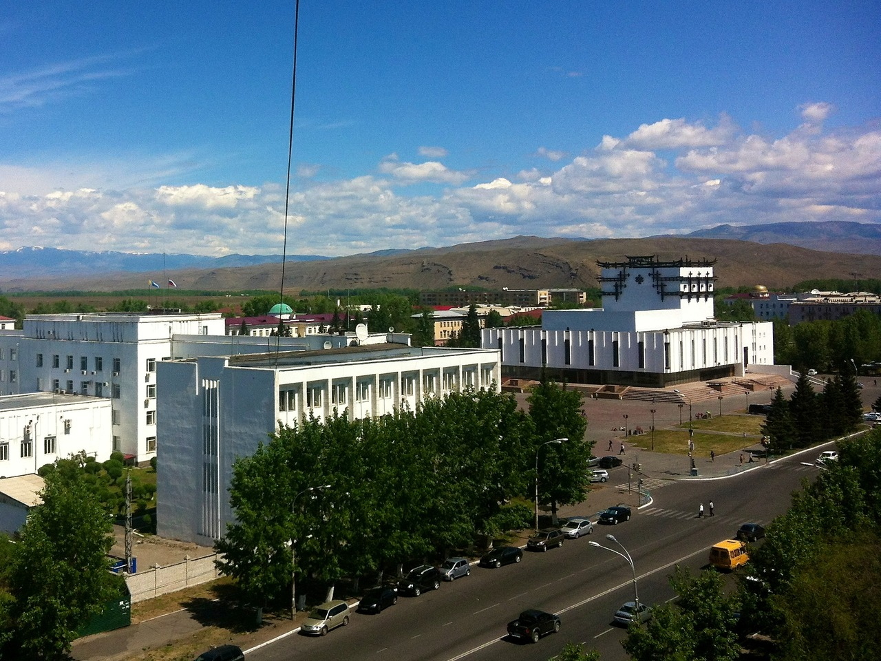 view from tallest building in kyzyl