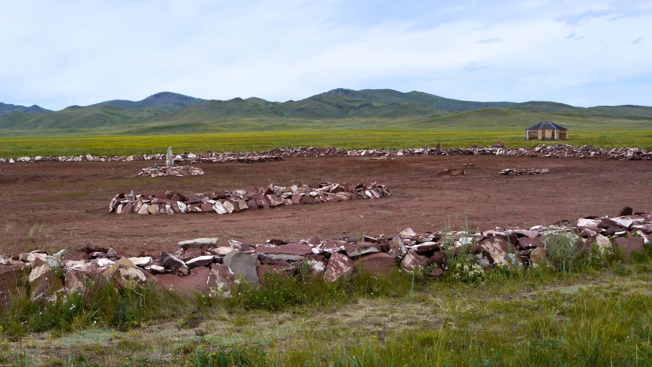 2,700 year old scythian burial site arkhaan-2, where 44 pounds of gold was  found by archeologists in 2003  (the gold is now on display at the tuvan national museum in kyzyl)