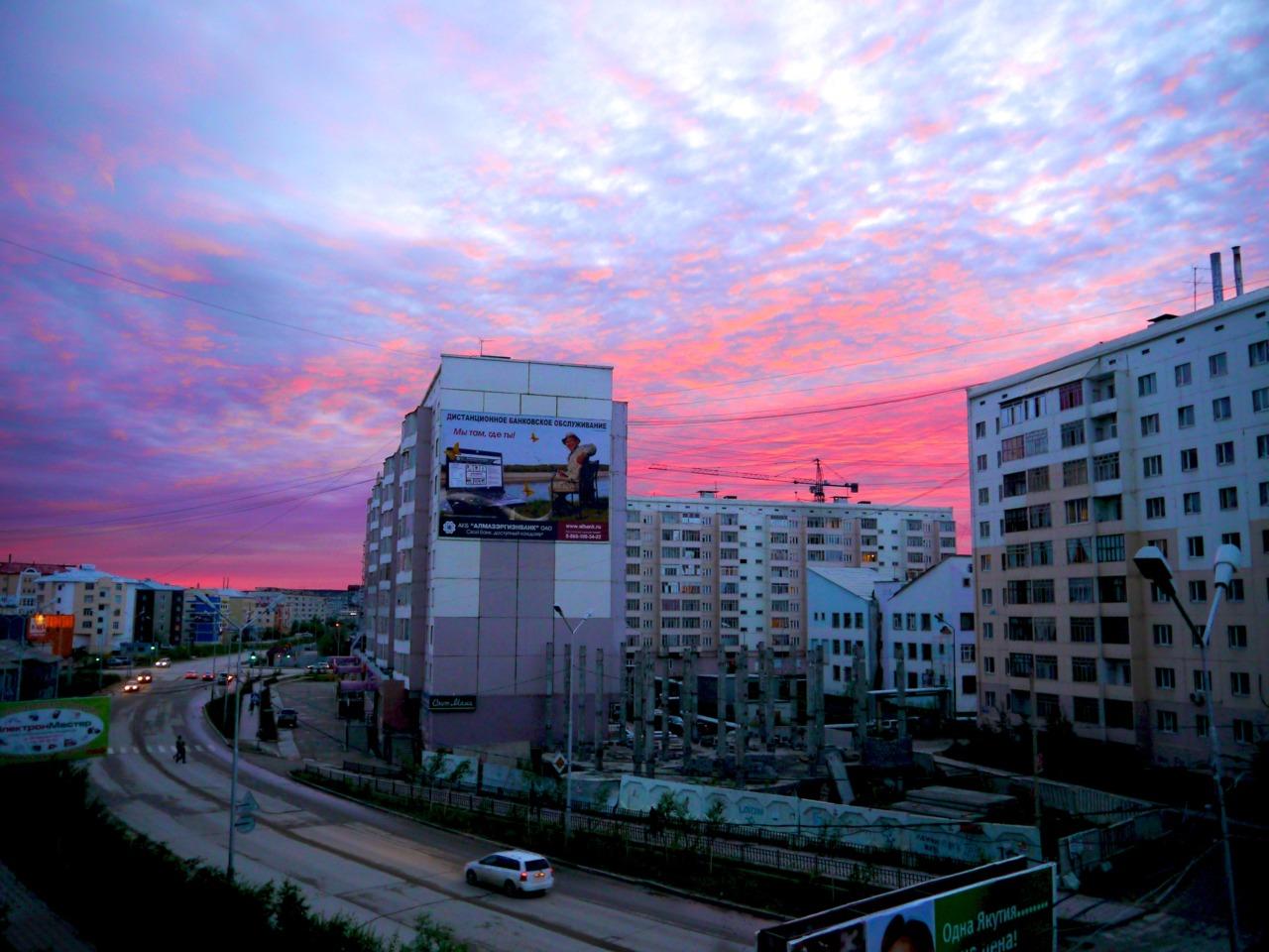 white nights in yakutsk