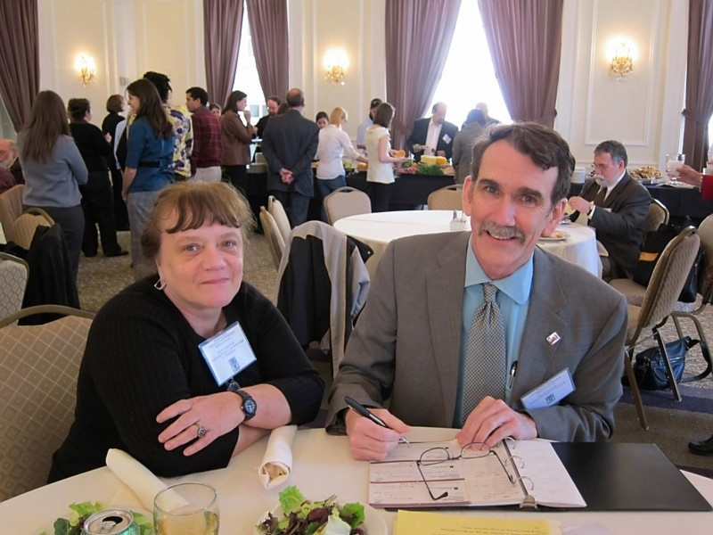 MACLAS President Ivani Vassoler and Treasurer Brian Turner, March 2011