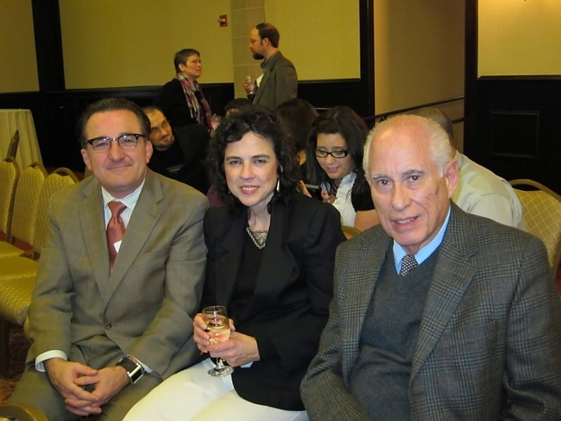 MACLAS 2011 Keynote Speaker Carmelo Mesa-Lago with Juan Manfredi and his wife