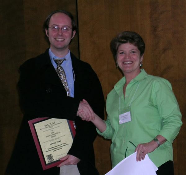 Martz Prize, Jeff Pugh, Hannah