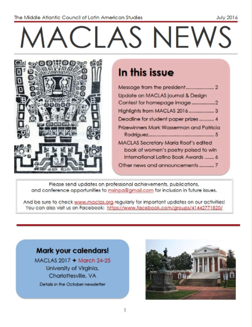 Click on image for July 2016 newsletter.