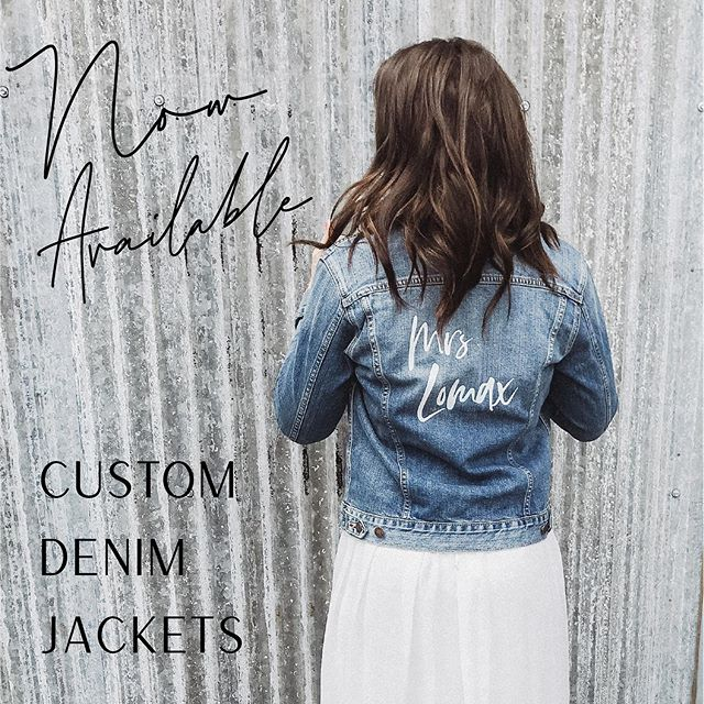 NOW AVAILABLE and taking custom orders through Envision Napa Valley!  After several requests for custom, well made jackets, I have made them available to order on my Etsy shop!  Ditch the cheeseboard and serving spoons and order one of these timeless denim jackets for the bride to be! She will love showcasing her new last name throughout all of the events leading up to her big day!  Not getting married? Who cares! You can still rock your last name with a badass custom jacket!  Link in bio to place your order! 🖤 . . . . #denimjackets #customdenim #bridalshower #engaged #weddingday #napavalleywedding #weddingdesign #weddinggraphics