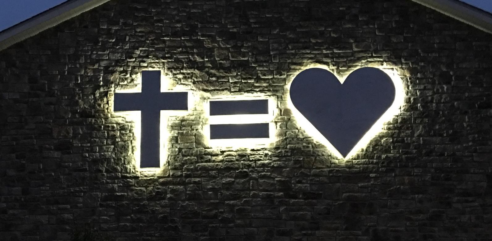 Custom Backlit Sign For Life Church. Nazareth, PA