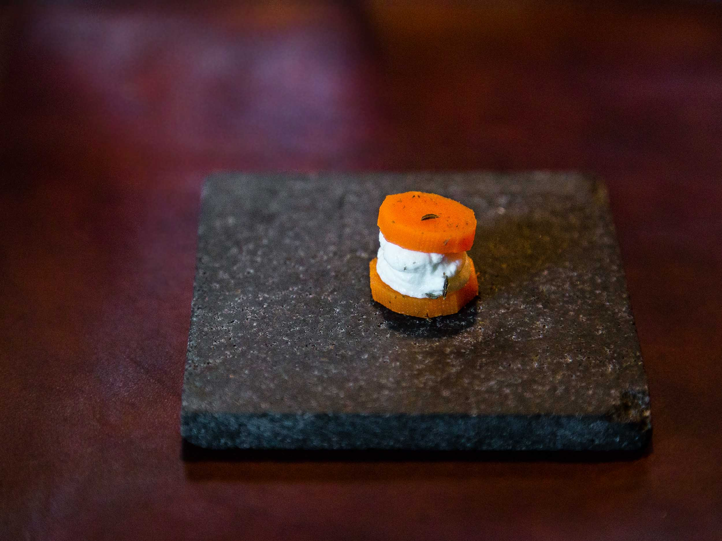 pickled carrot - fresh cheese - caraway