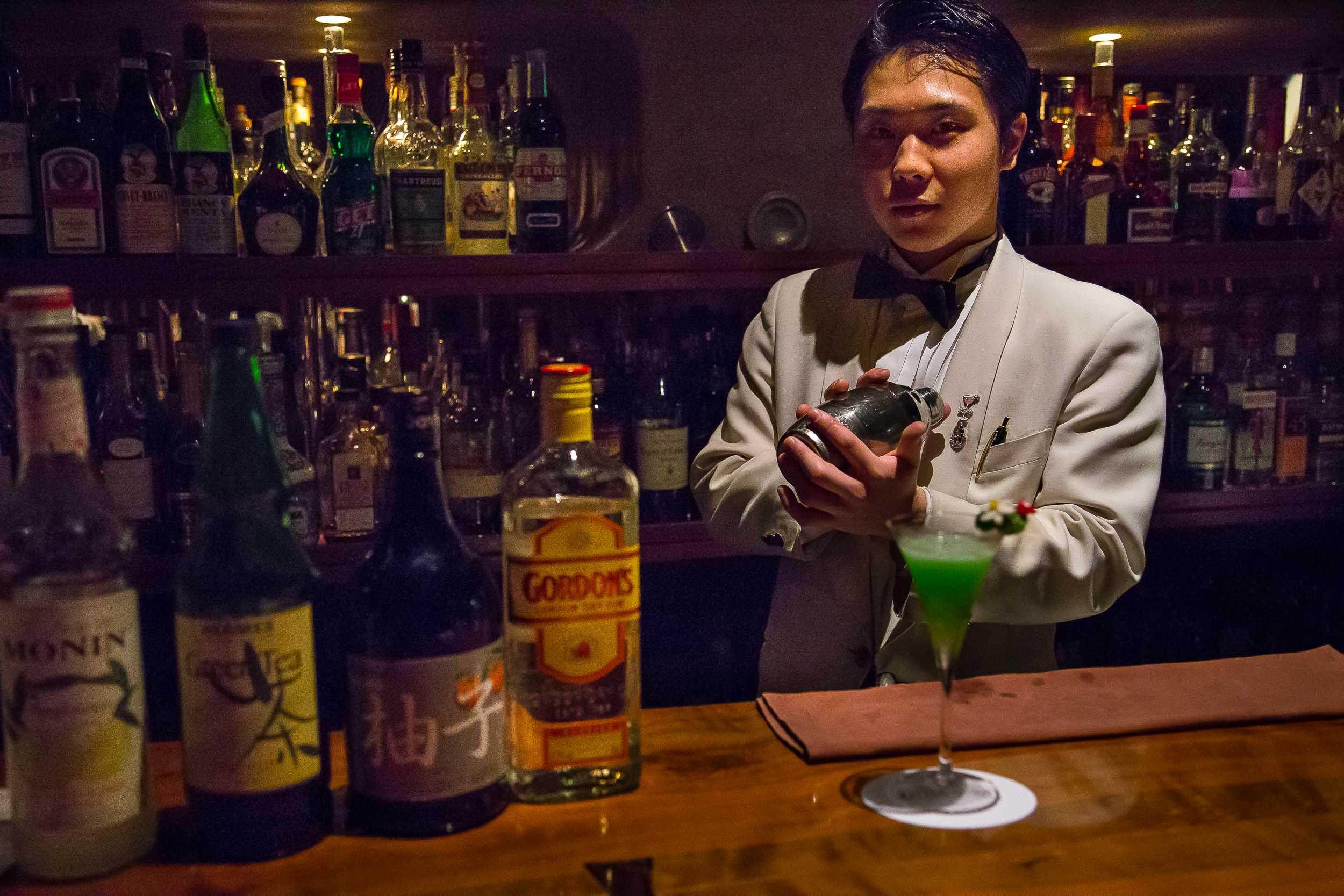 My bartender, Yuta, winner of best bartender in Japan under the age of 28.