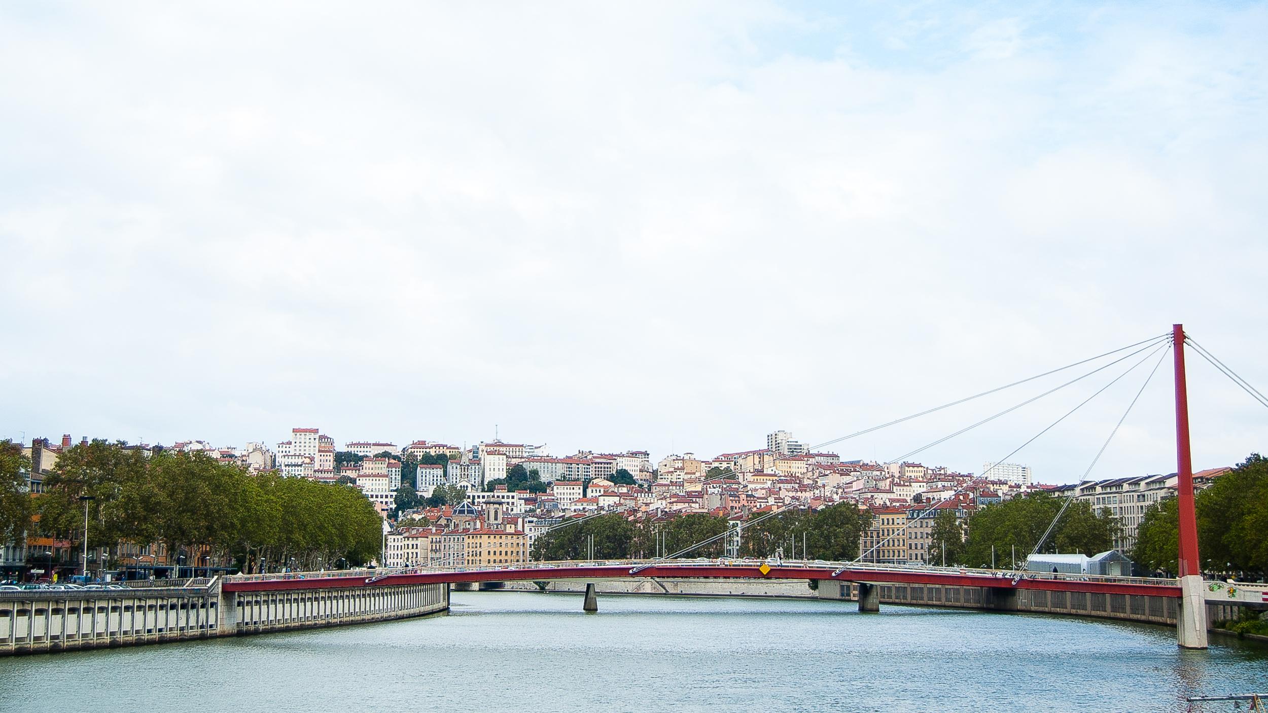 Lyon France Cityscape Saone River