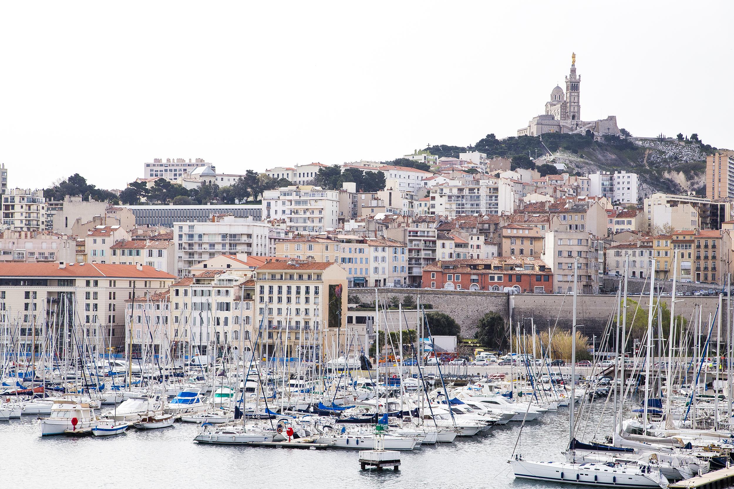 The port and the Notre-Dame de la Garde
