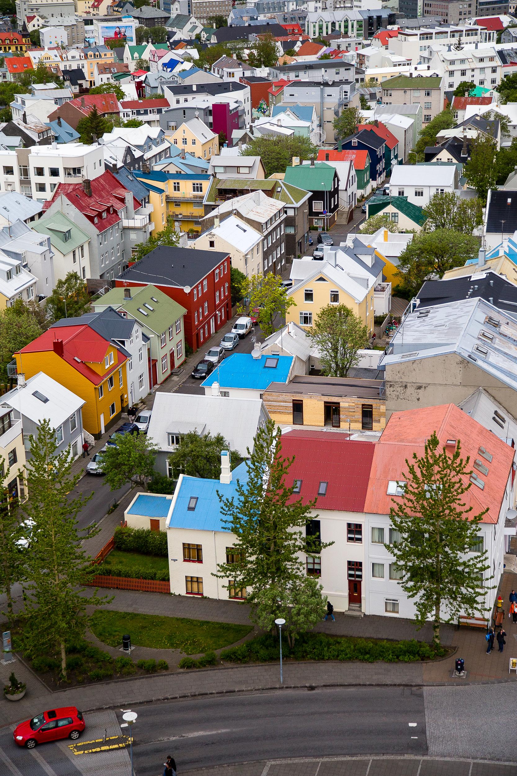 Reykjavik Iceland Street Aerial