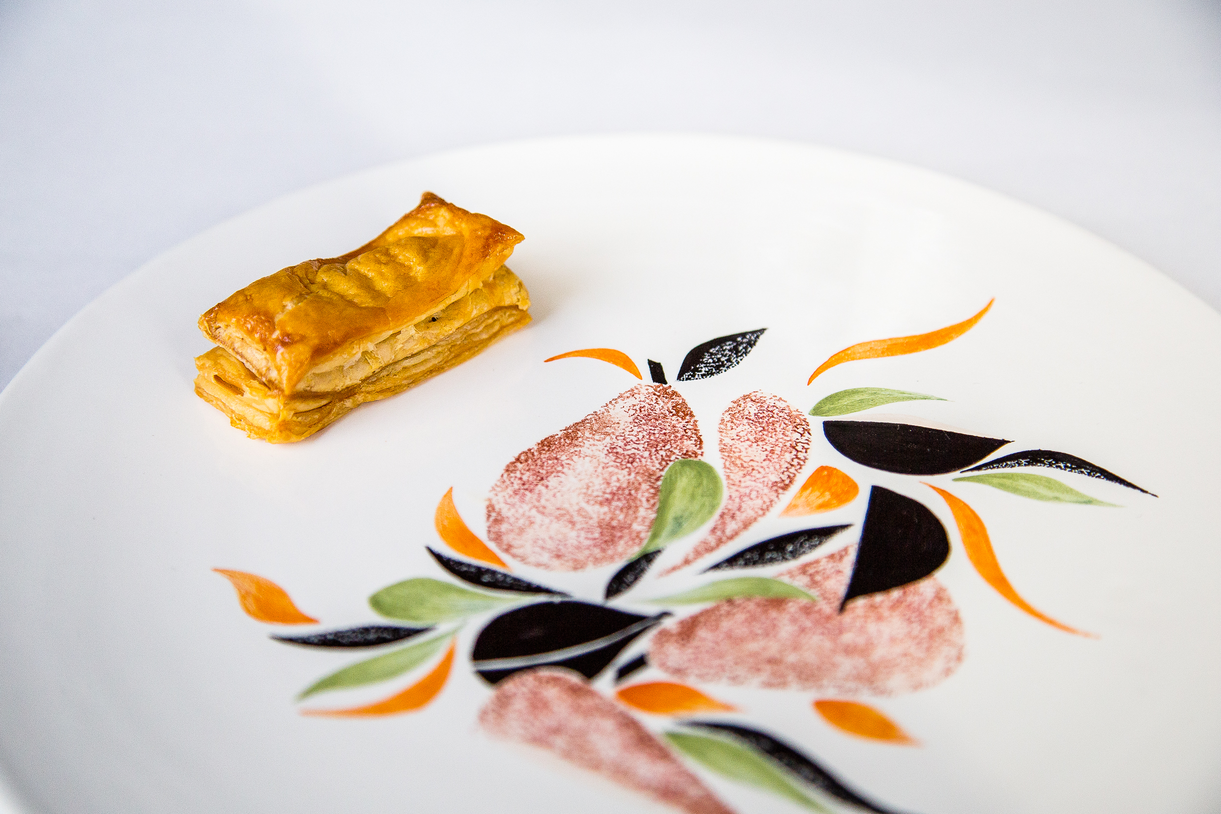 Puff Pastry with Garlic, Cabbage, and Hot Radish