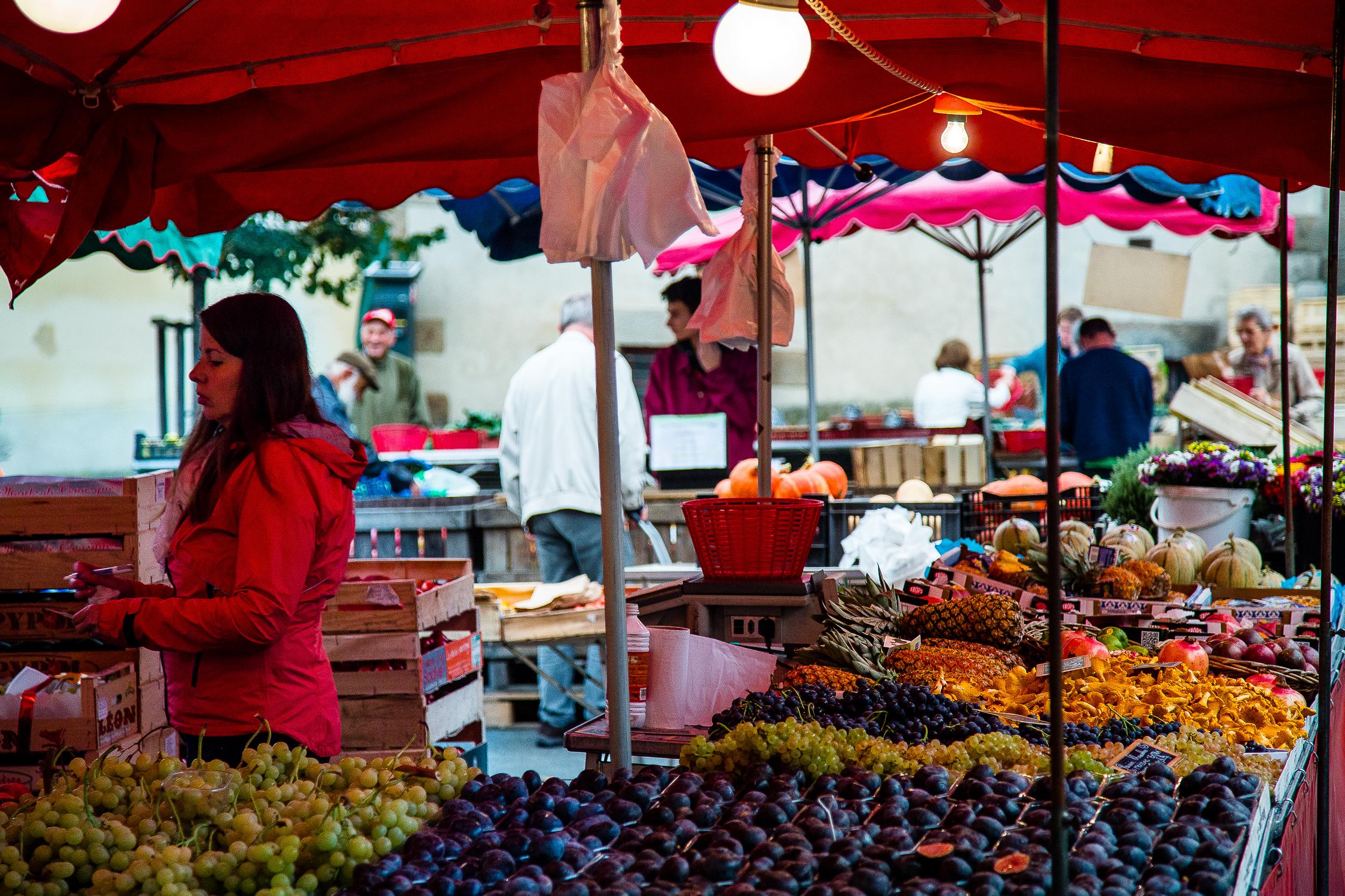 Marche des Lices Farmers Market Rennes France