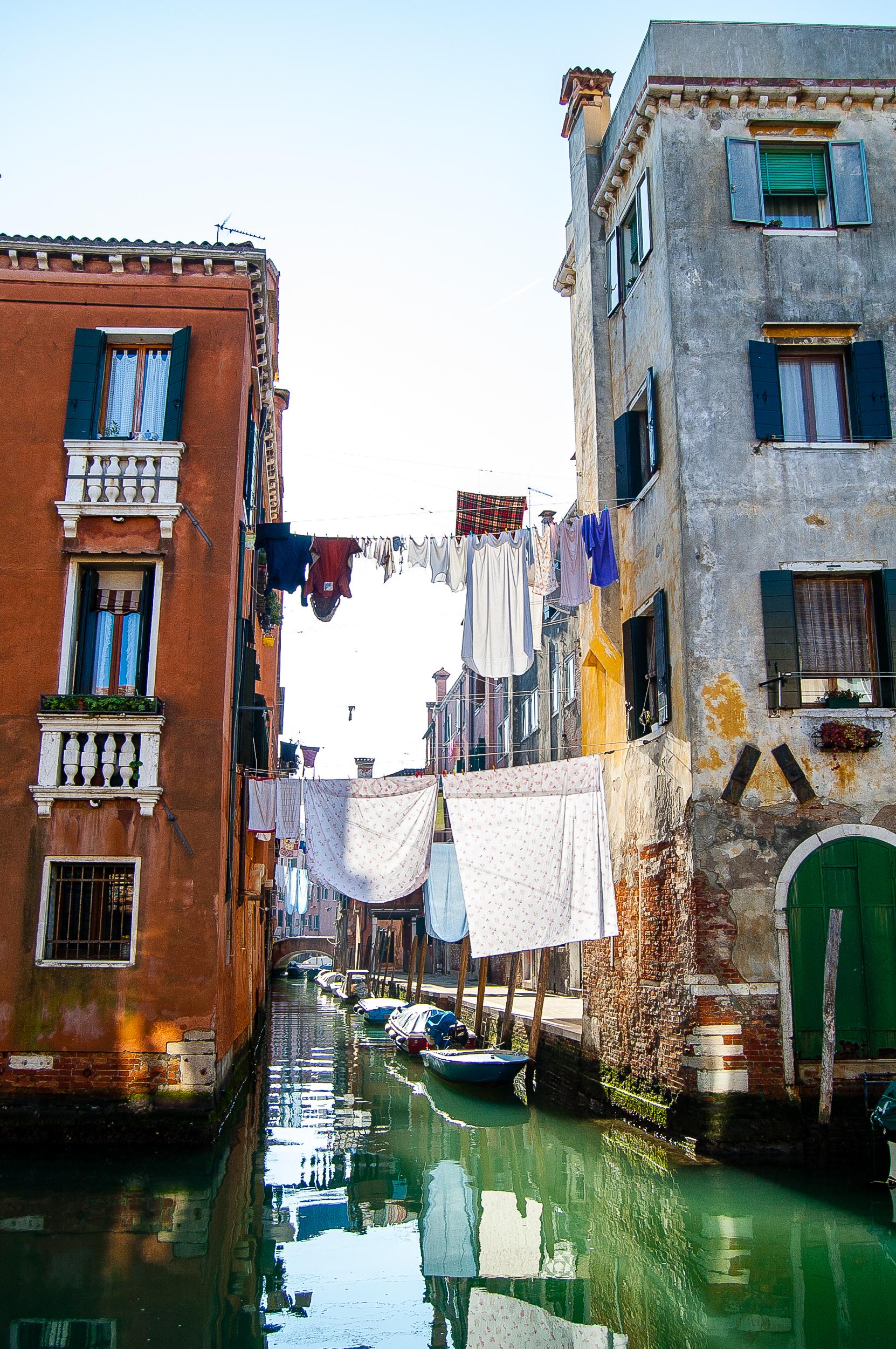 Venice Italy Canal Laundry