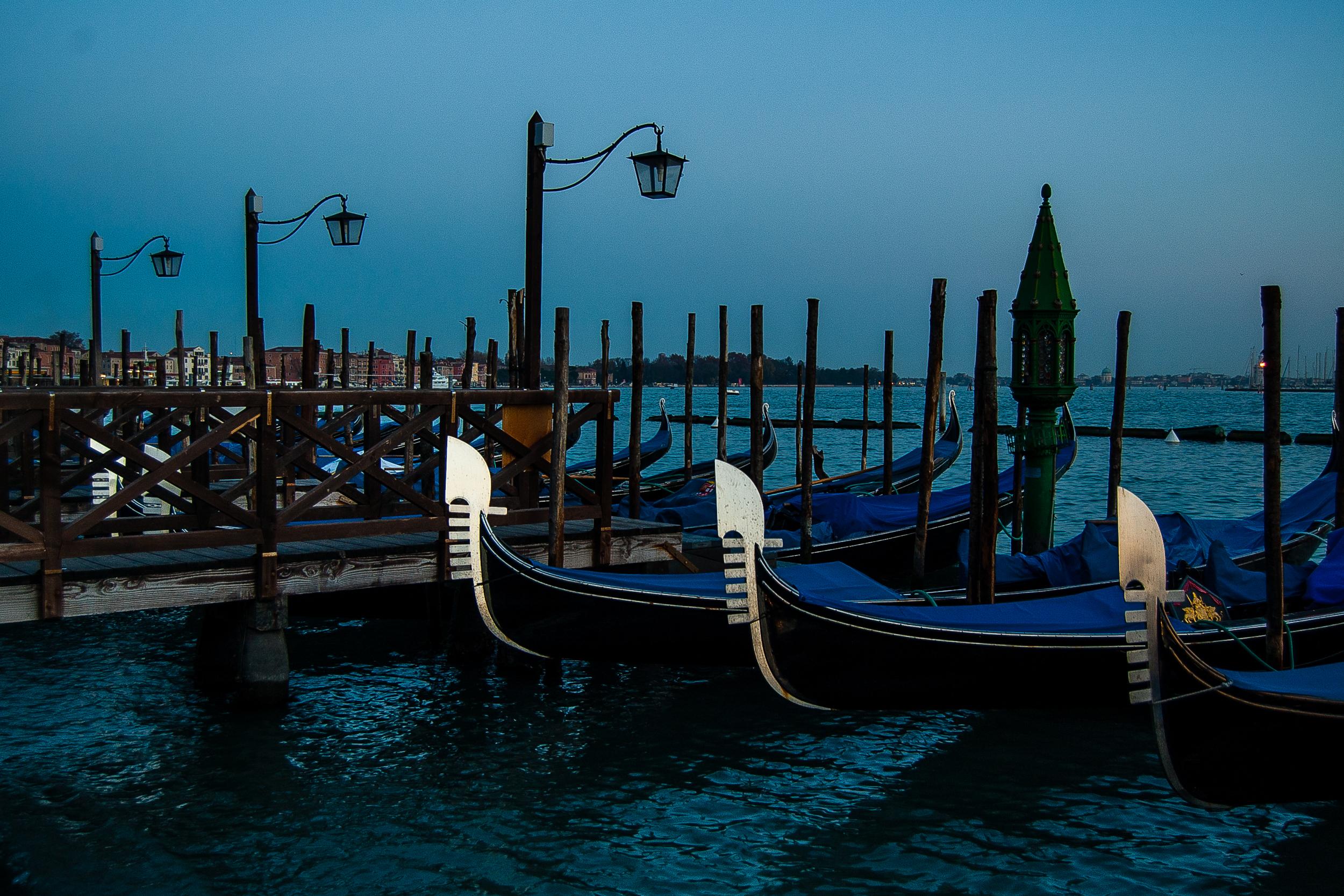 Venice Italy Gondolas