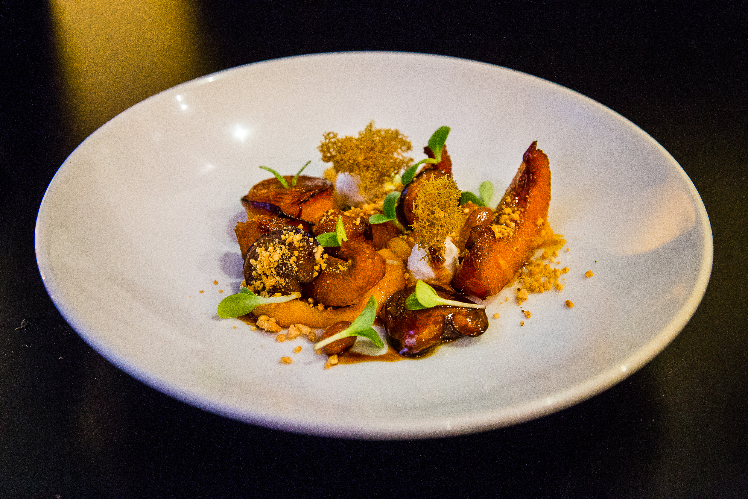 Pumpkin, Pumpkin Purée, Pickled Peanuts