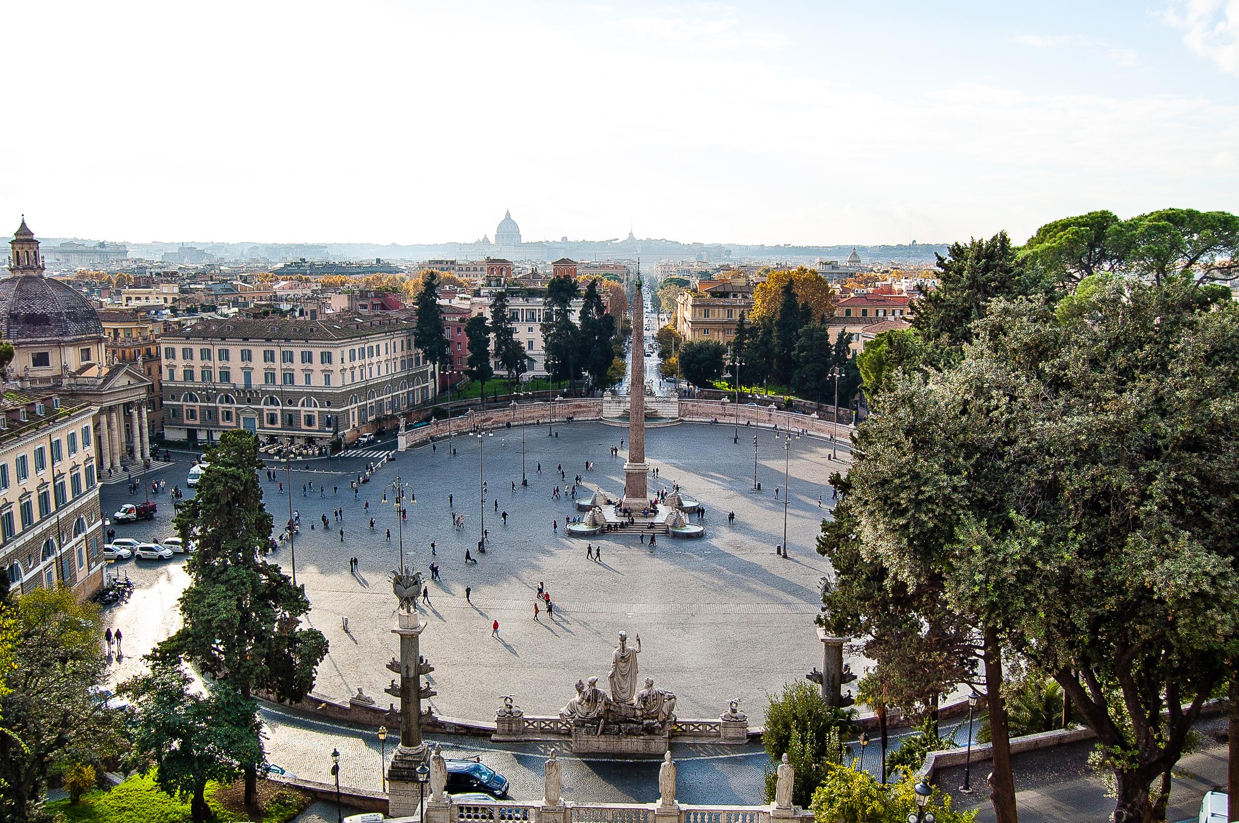 Piazza del Popolo from the Terrazza del Pincio Rome Italy