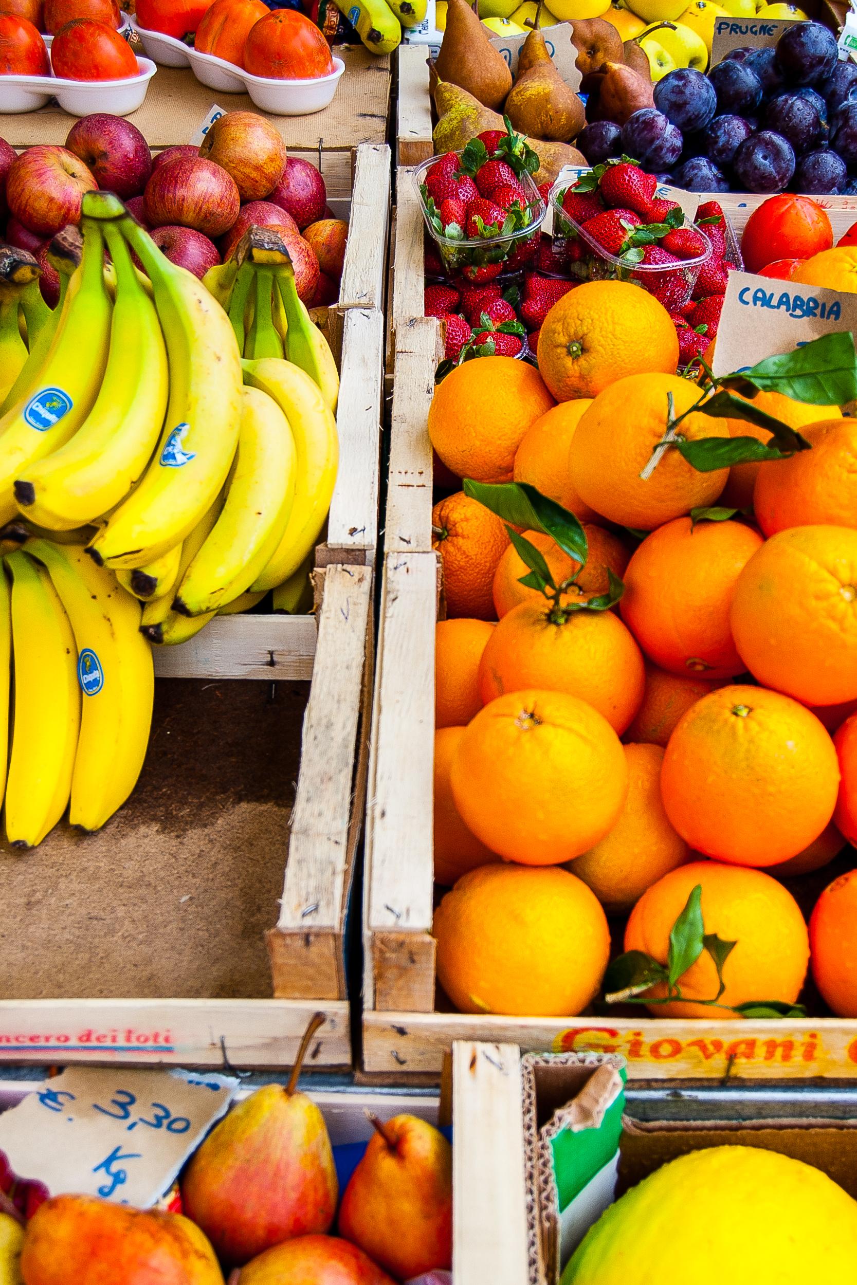 A market stall in the Campo de' Fiori