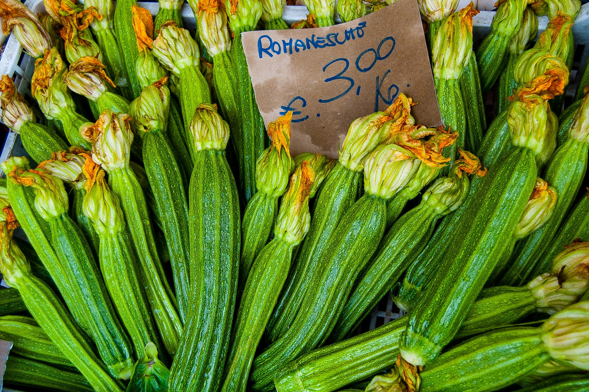 A stand at a market in the Campo de' Fiori