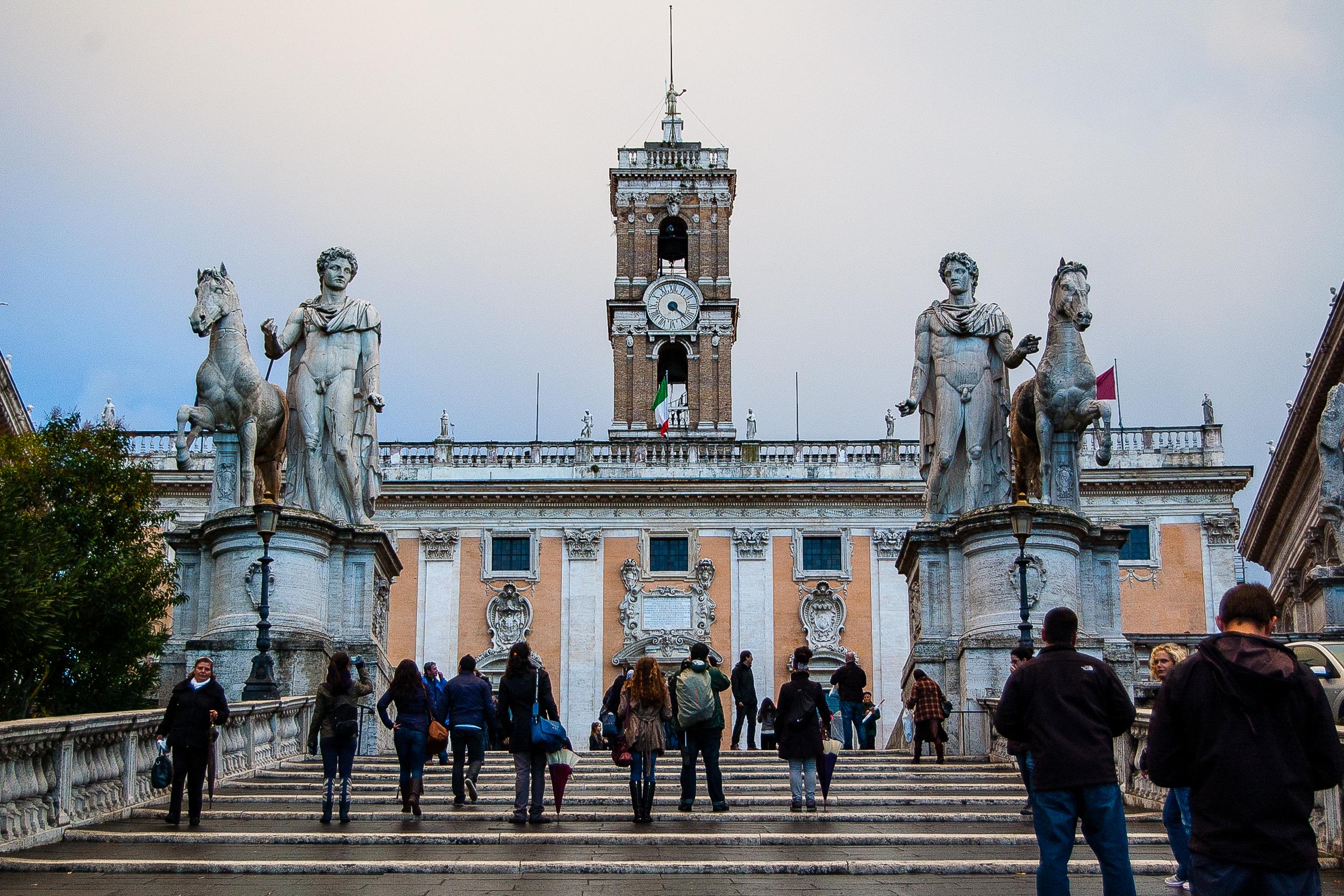The Palazzo Senatorio taken from the Cordonata Capitolina