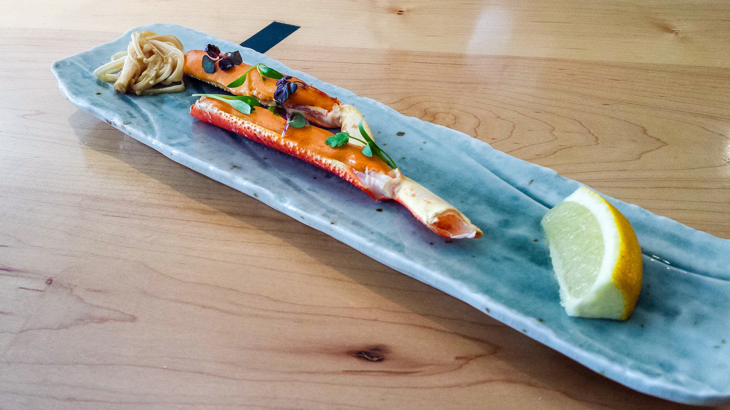 Snow Crab with Spicy Aioli and Enoki