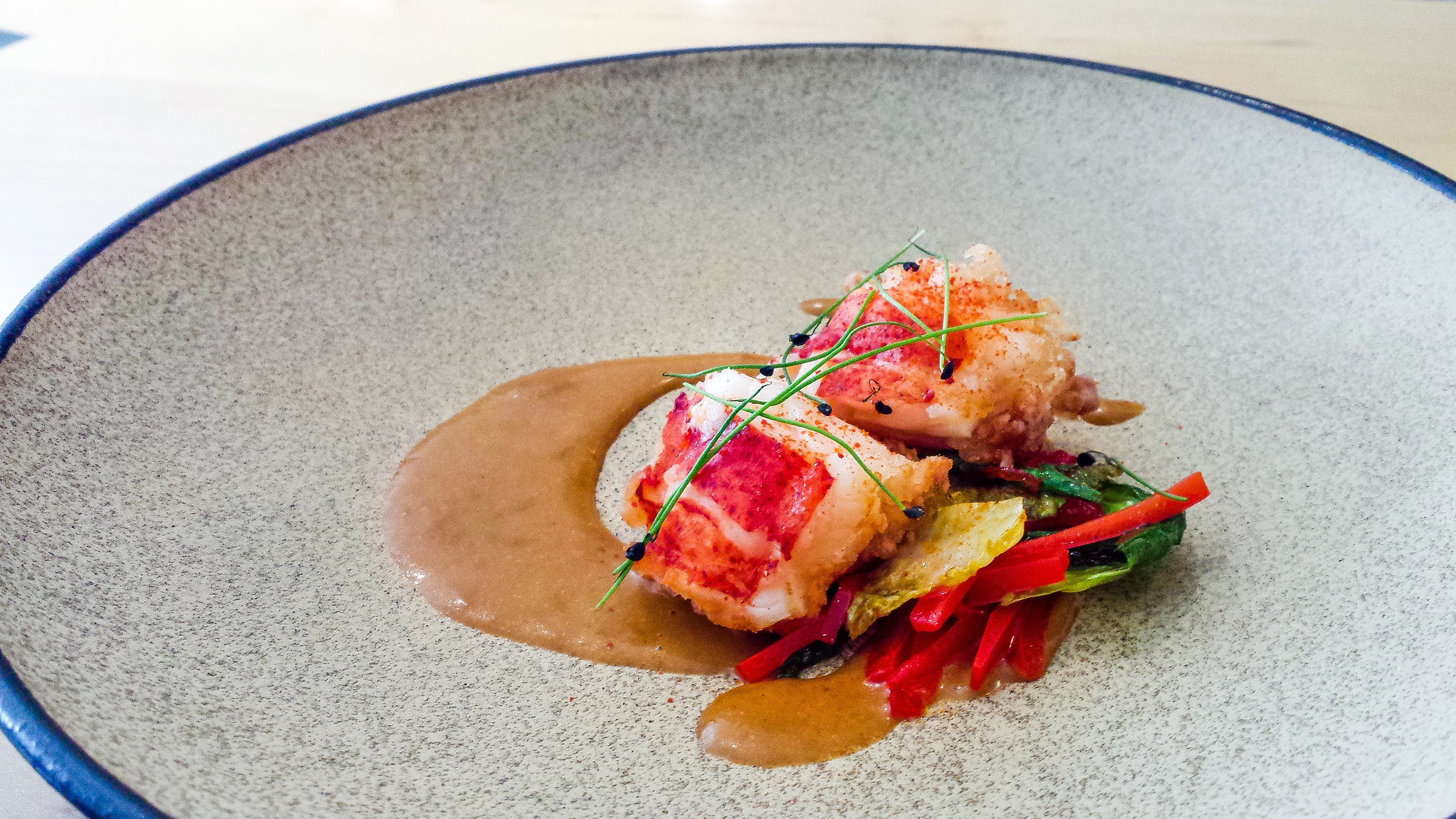 Lobster with a Coconut Gojuchang Sauce