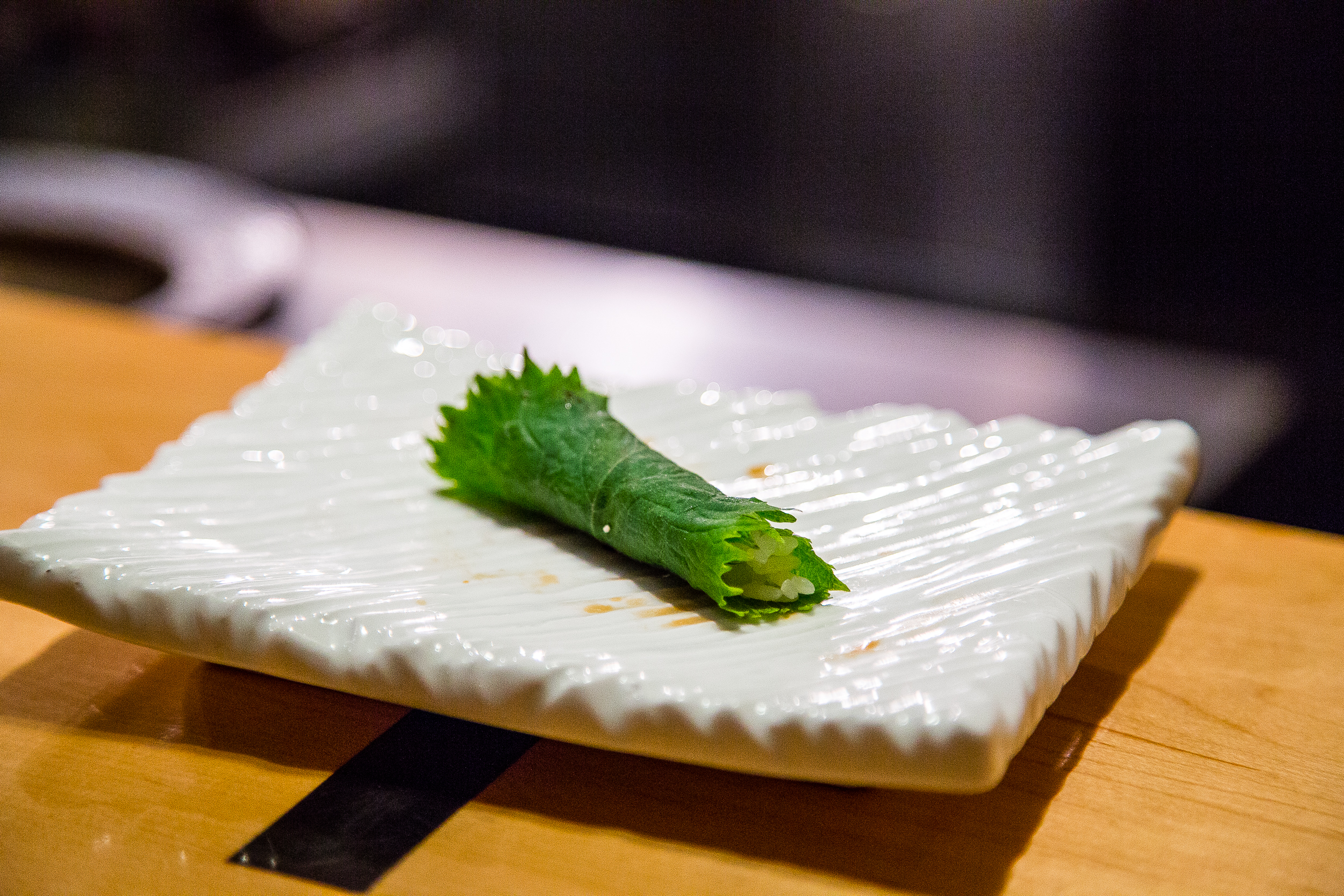 Shiso, a Palate Cleanser