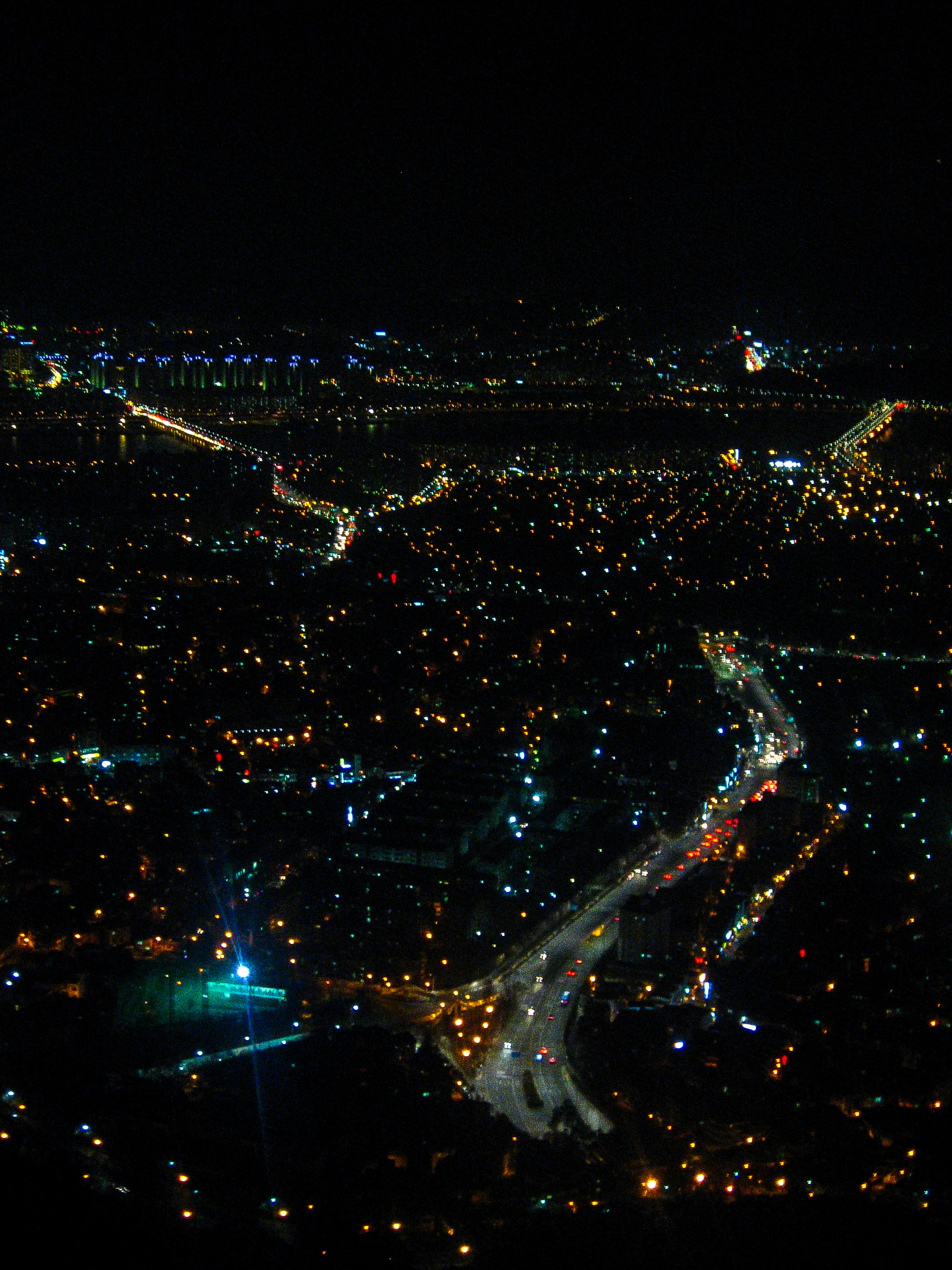 the view from Seoul Tower