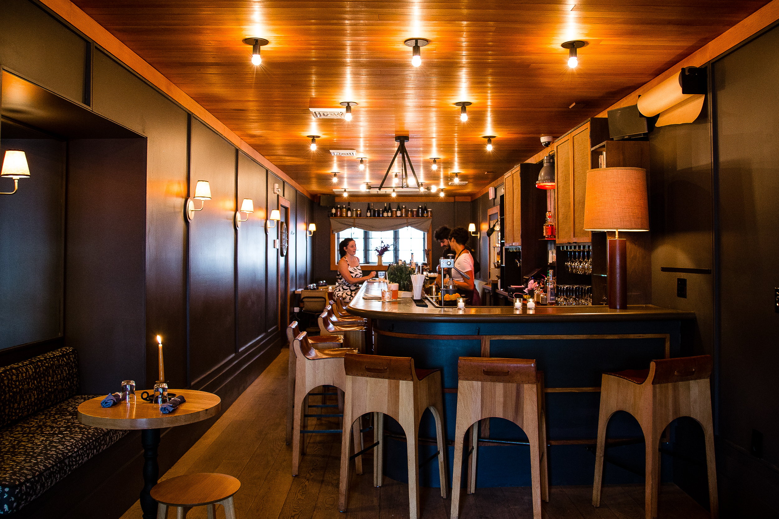 The hotel restaurant/tavern