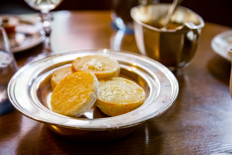 Fresh, piping English muffins
