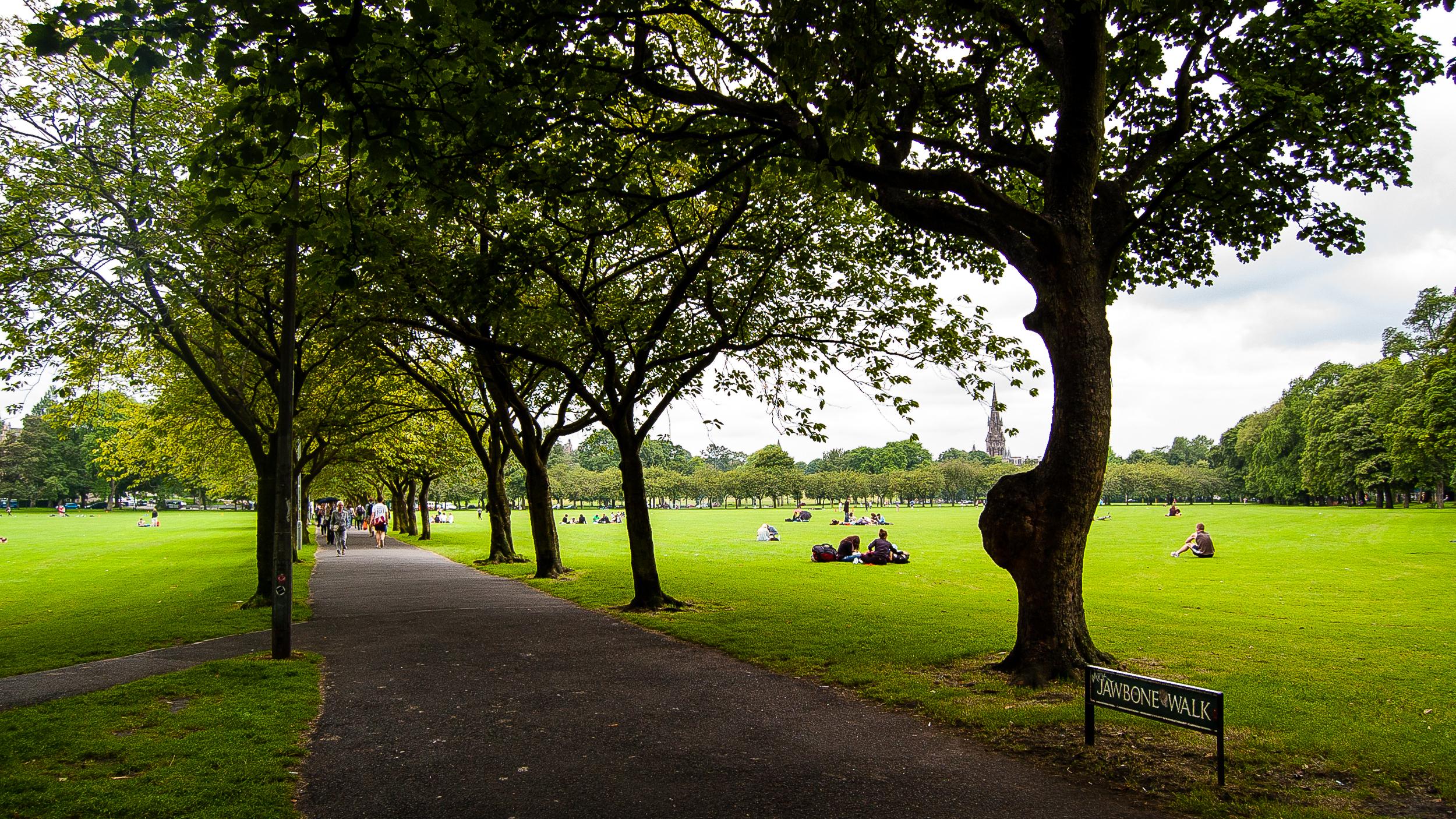 Edinburgh Jawbone Walk the Meadows