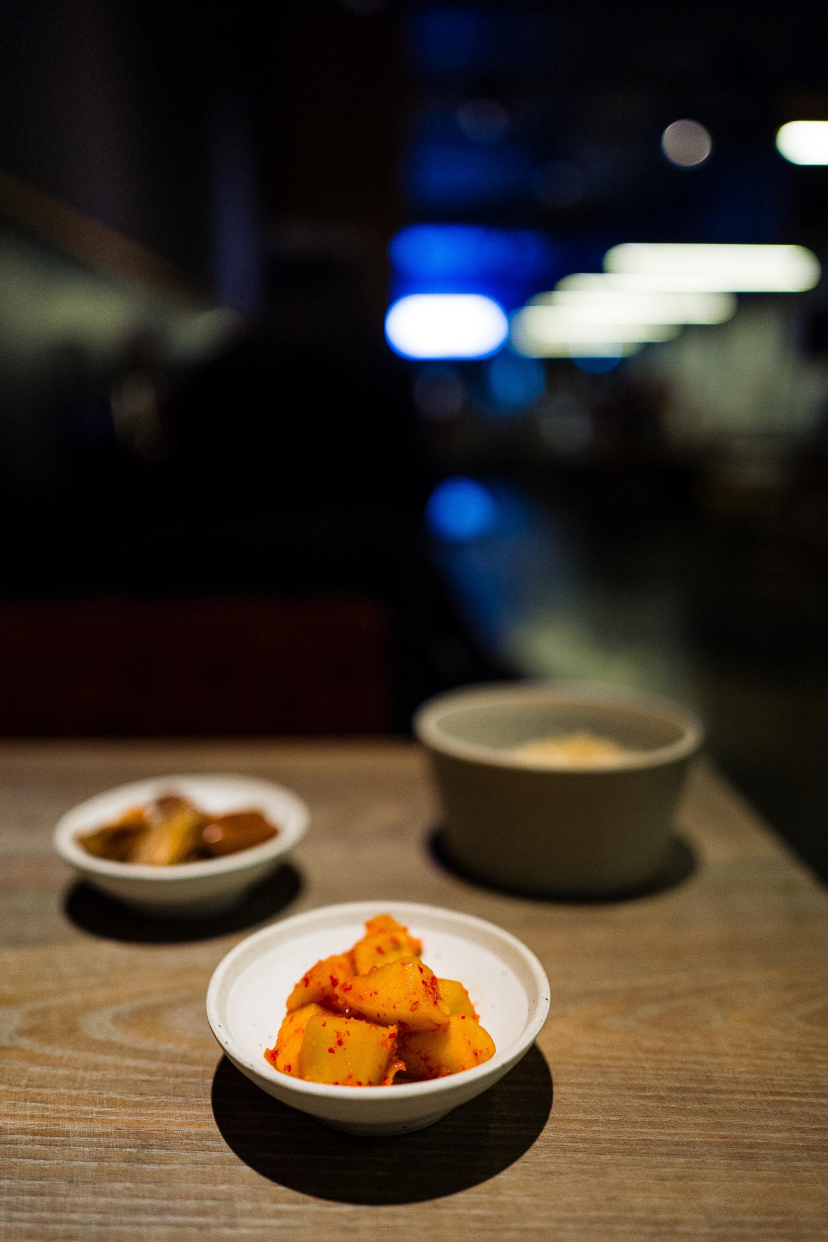 Rice (Upgraded: Shiitake), Apple Kimchi, Eggplant Kimchi #squadgoals
