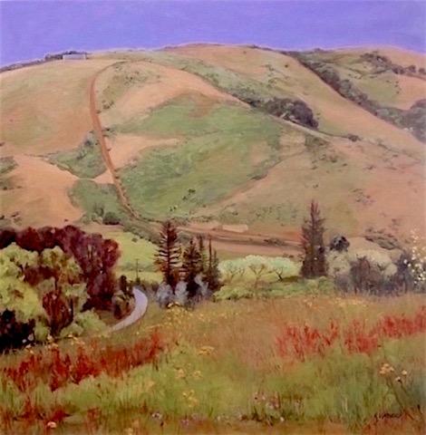 """WaterTank Road"""" , Artist: Kevyn Warnock, Oil on Canvas, 36"""" X 36"""""""