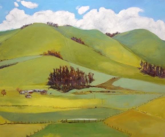 """Spring, Petaluma"" , Artist: Kevyn Warnock. Oil on Canvas, 36"" X 44"""