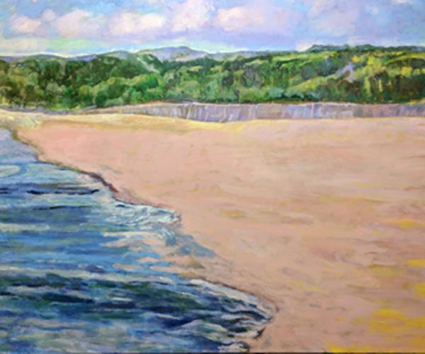 """"""" The Beach"""" , Artist: Sandra Cochran, Acrylic on Canvas, 48"""" X 60"""""""